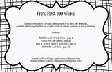 Center and Group Activities for Fry's First 100 Sight Words