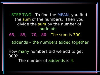 Central Tendency--finding the mean