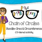 Chain of Circles Bundle: 3-tier: Finding Area & Circumfere