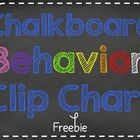Chalk it Up to Great Behavior! Clip Chart Freebie