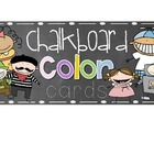 Chalkboard Color Cards