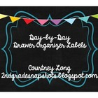 Chalkboard Design Drawer Organizer Labels - Days of Week
