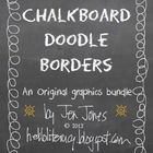Chalkboard Doodle Borders Bundle - Set of 24