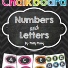 Chalkboard Numbers and Letters