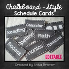 Chalkboard Schedule Labels