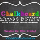Chalkboard Themed Behavior Bonanza