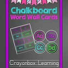Chalkboard Word Wall Headers & Cards - High Frequency Word