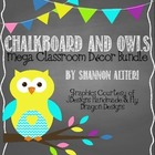 Chalkboard and Owls MEGA Decor Bundle