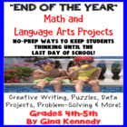 "Language Arts & Math ""End of the Year"" Creative Challengin"
