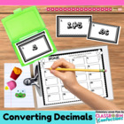 Changing Decimals to Fractions Task Cards