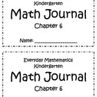 Chapter 6 Everyday Math Kindergarten Journal