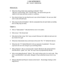 Chapter Questions or Study Guide for I am Mordred