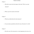 Chapter by Chapter Comprehension
