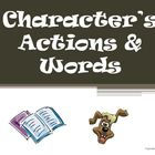 Character Actions and Words Reading Strategy PowerPoint