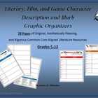 Character Blurb Graphic Organizer Literature Film Common Core