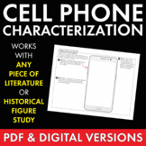 Character Cell Phone, Fun Writing Activity, Use with ANY L