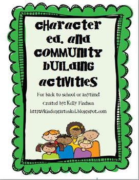 Character Ed. and Community Building Activities