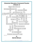 Character Education Crossword Puzzles (Volume 1) (&quot;LITE&quot; VERSION)