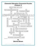 "Character Education Crossword Puzzles (Volume 1) (""LITE"" VERSION)"