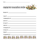 Character Education Recipe Worksheet