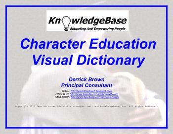 "Character Education Visual Dictionary (""LITE"" VERSION)"