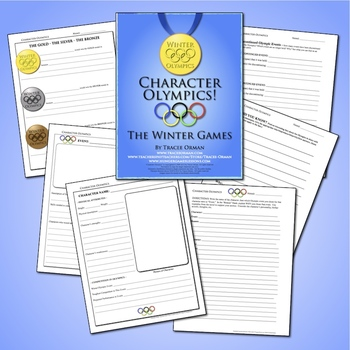 Character Olympics Reading Literature Lesson Activity