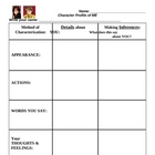 Character Profile of ME - Worksheet