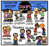 Character Qualities Clip Art Bundle