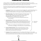 Character Sketch: Assignment and Grading Rubric