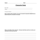 Character Study Worksheet