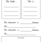 Character Study Worksheets  male and female version