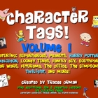 Character &quot;Tags&quot; Lit/Novel Activity: Family Guy, Twilight,
