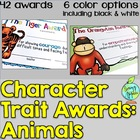 Character Trait Awards- Animals