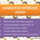Character Trait Inference Games