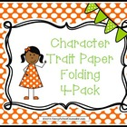 Character Trait Paper Folding Activities