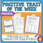 Character Trait Words - 42 Bright &amp; Colorful Words + Worksheet