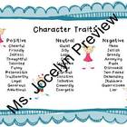 Character Traits Handout