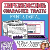 Character Traits Task Cards: 32 Short Answer Story Cards