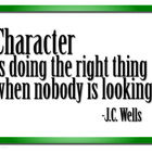 Character is... Motivational Poster Print Free Download