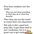 Character traits vocabulary cards and sorts