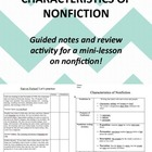 Characteristics of Non-Fiction: Intro to New Material & Gu