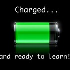 &#039;Charged... and ready to learn!&#039; Poster