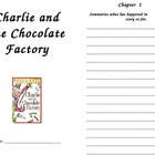 Charlie and the Chocolate Factory Journal