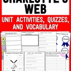 Charlotte's Web Unit Activities, Quizzes, and Vocabulary