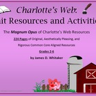 Charlotte's Web Unit Resources Novel Study Common Core