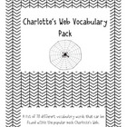 Charlotte's Web Vocabulary Activity