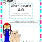 Charlotte's Web Vocabulary & Vocabulary Assessments