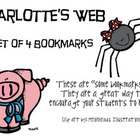 Charlotte's Web, by E. B. White, Set of 4 Bookmarks