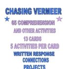 Chasing Vermeer Task Cards 65 Comprehension Activities