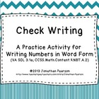 Check Writing - A Place Value Number Writing Activity - 24